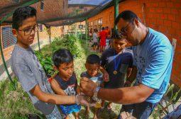 Governo do Amazonas promove atividade de educação ambiental no Prosamim