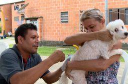 Vacinação de animais mobiliza moradores do Prosamim