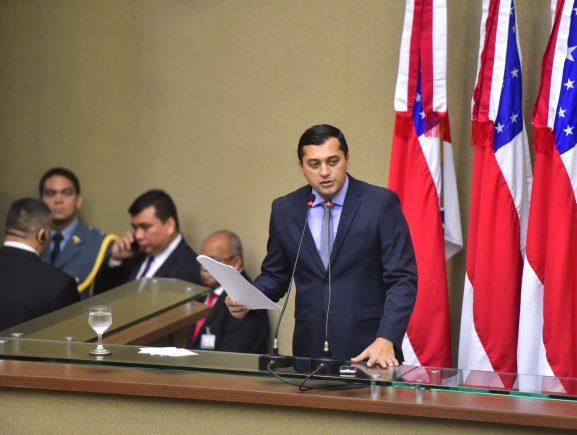 Em discurso na Aleam, Wilson Lima anuncia medidas para enfrentar crise e colocar o Amazonas no caminho do desenvolvimento